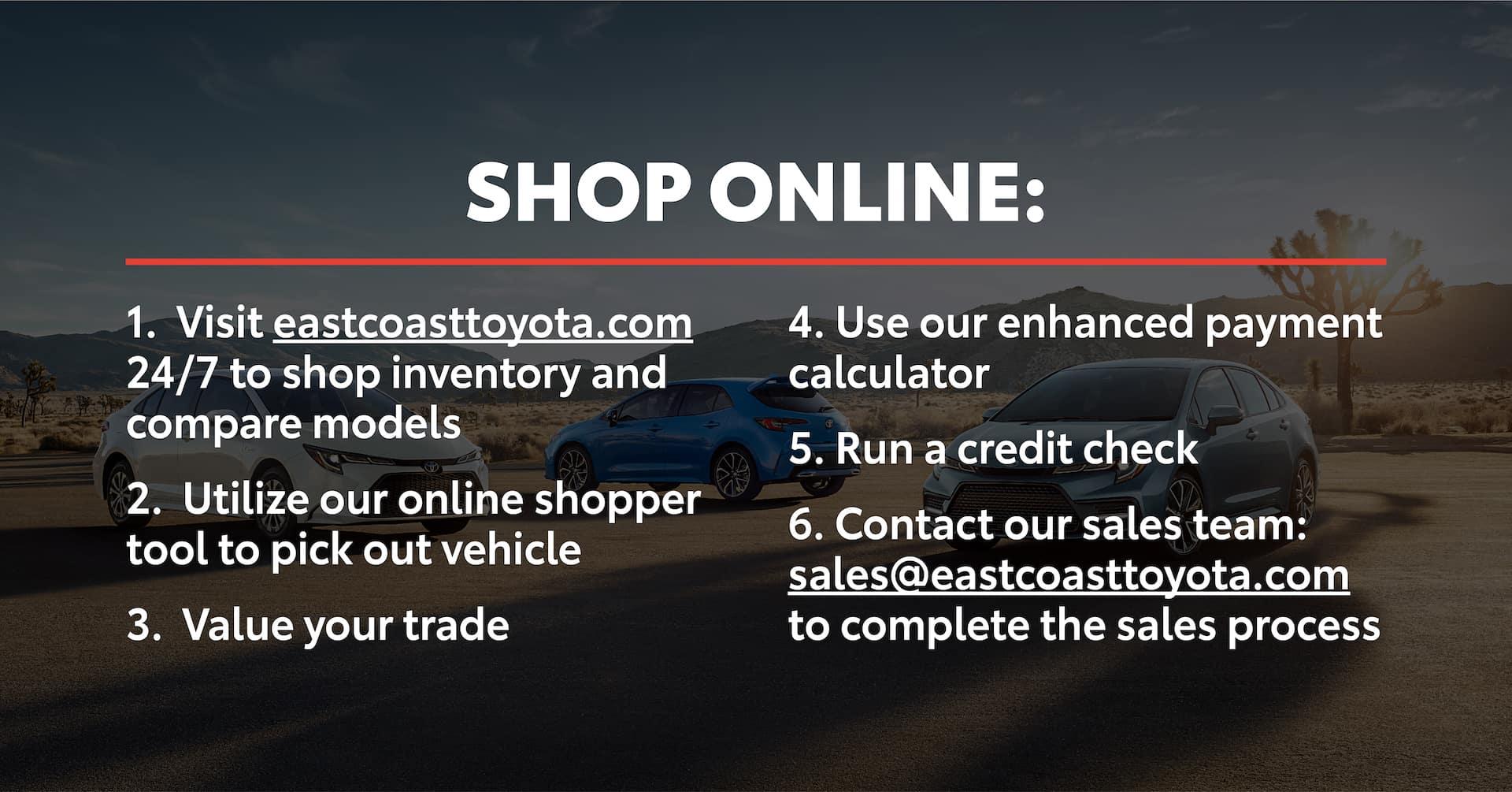 East Coast Toyota Shop Online