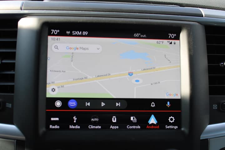 Android Auto view in 2019 Ram 1500