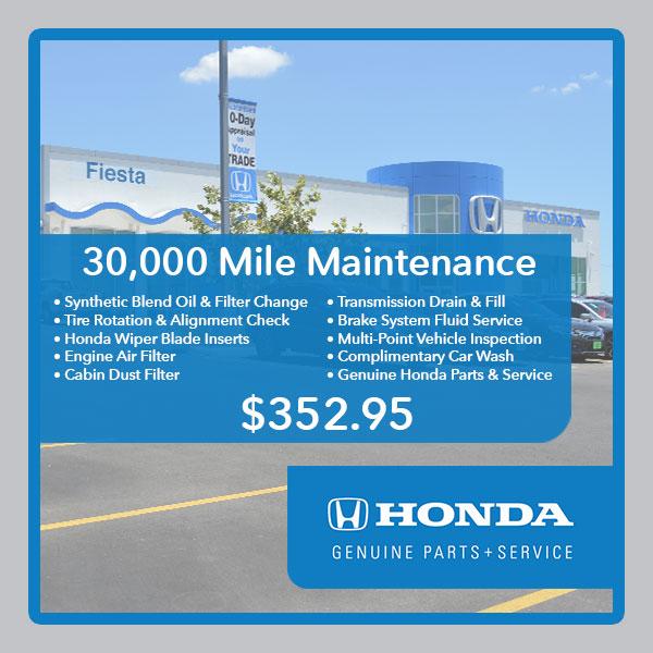 30000 Mile Maintenance San Antonio Honda