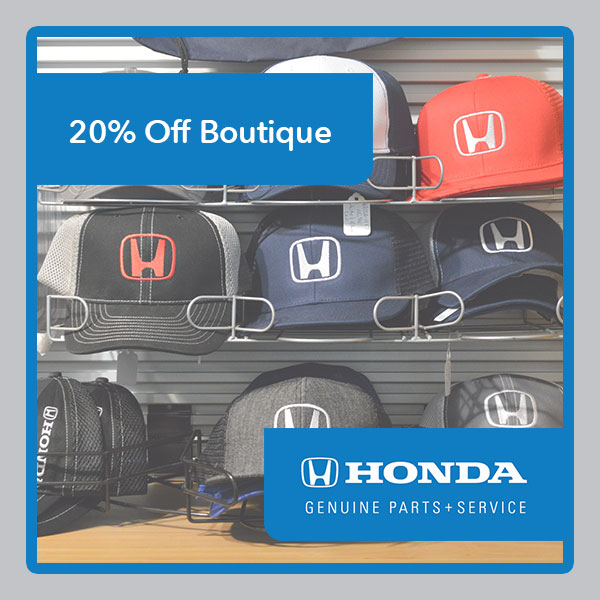 20% Off Honda Boutique Items