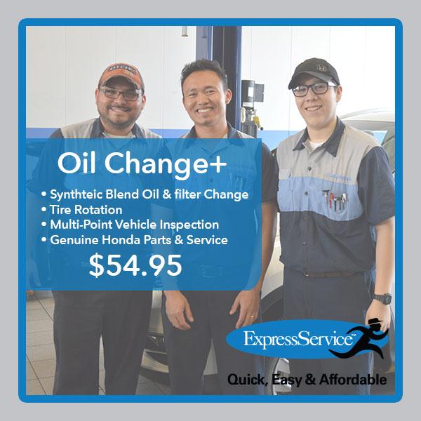 Honda Oil Change Special San Antonio