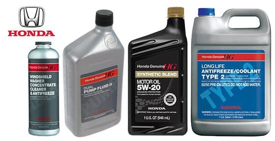 Honda Fluids Oils & Chemicals