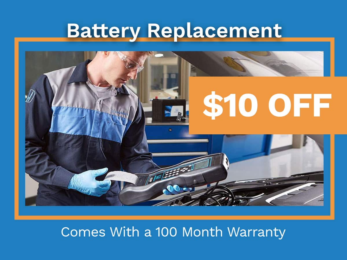 Honda Battery Replacement Special