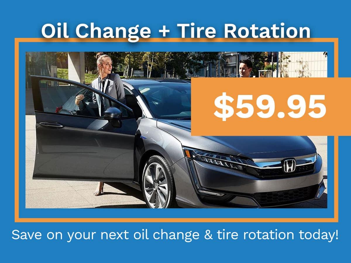 Honda Oil Change and Tire Rotation Coupon