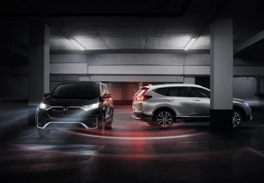 Honda CR-V in Parking Garage