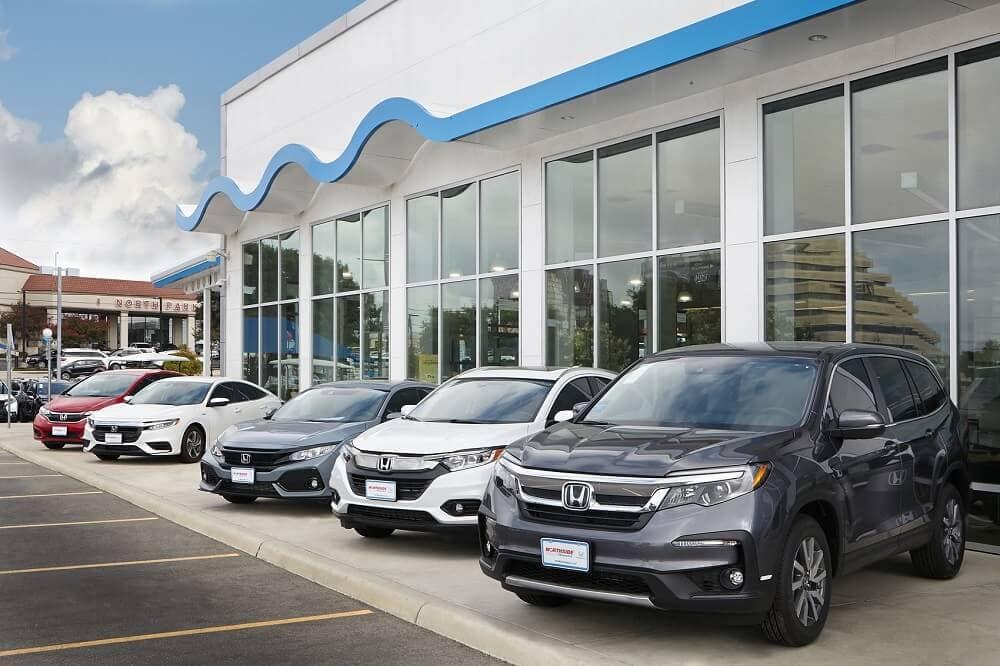 Honda Inventory outside of Northside Honda