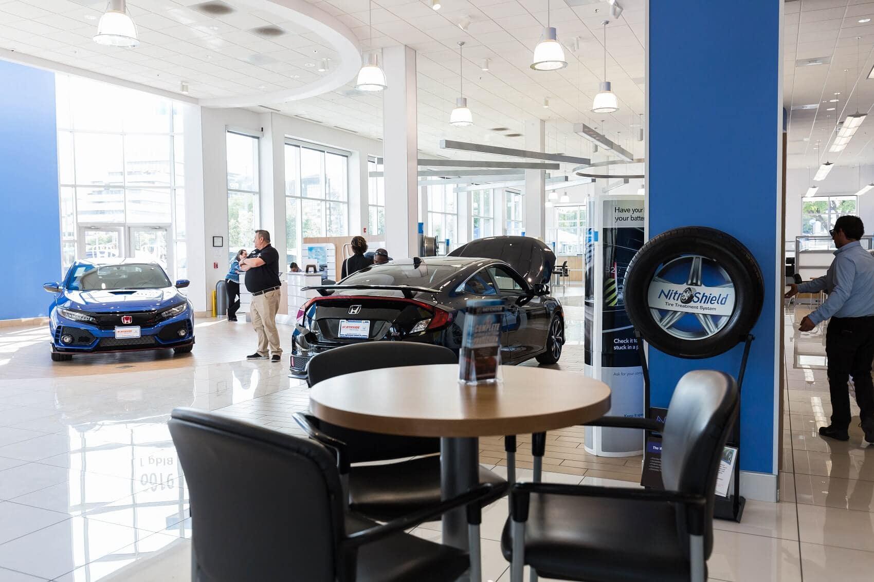 Inside Northside Honda Dealership