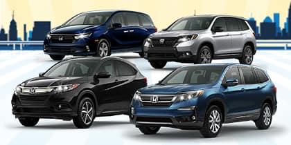 2021 Honda Passport, HR-V, Pilot, and Odyssey Models