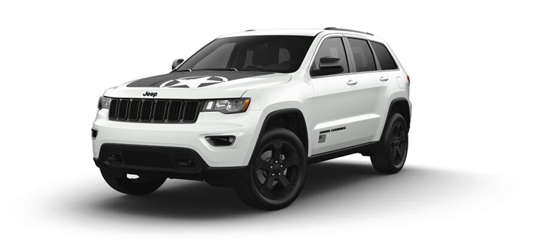 2021 Jeep Grand Cherokee Freedom in the color Bright white Clear-Coat
