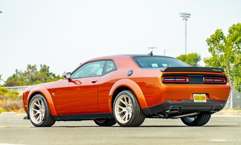 Back of 2020 Dodge Challenger.