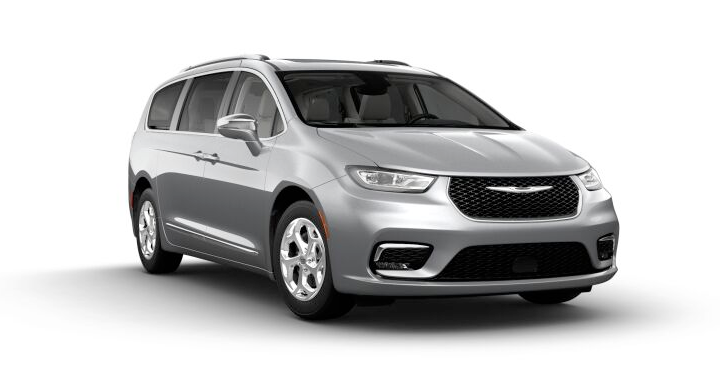 2021 Chrysler Pacific Hybrid Limited AWD in silver.