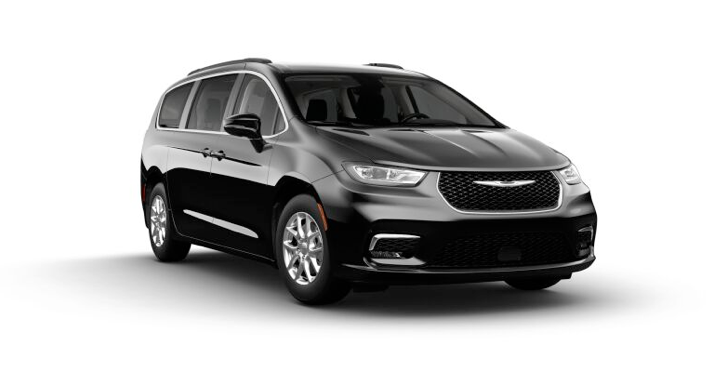 2021 Chrysler Pacific Touring in black.
