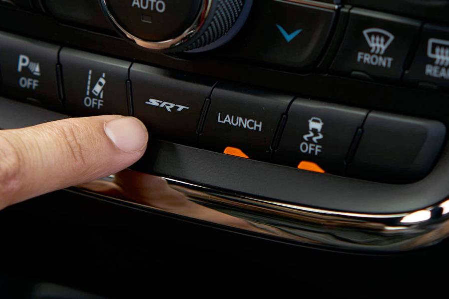 SRT button on the 2021 Dodge Durango.