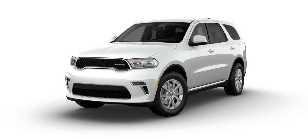 2021 Dodge Durango SXT RWD in white.