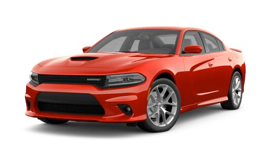 2021 Dodge Charger GT RWD in red.