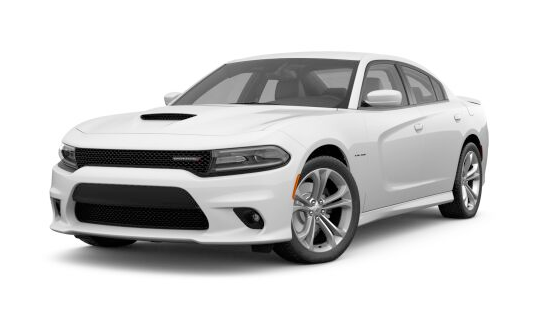 2021 Dodge Charger R/T in white.