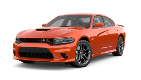 2021 Dodge Charger Scat Pack in orange.