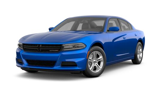 2021 Dodge Charger SXT RWD in blue.