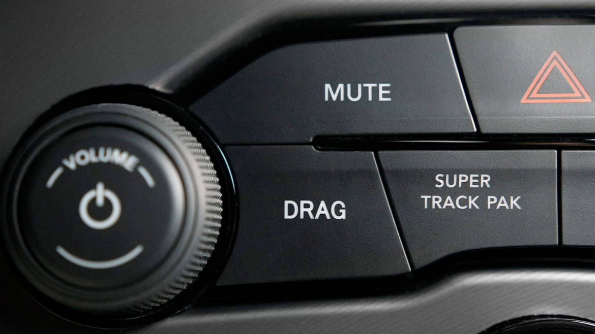 Drag mode switch on the 2021 Dodge Challenger.