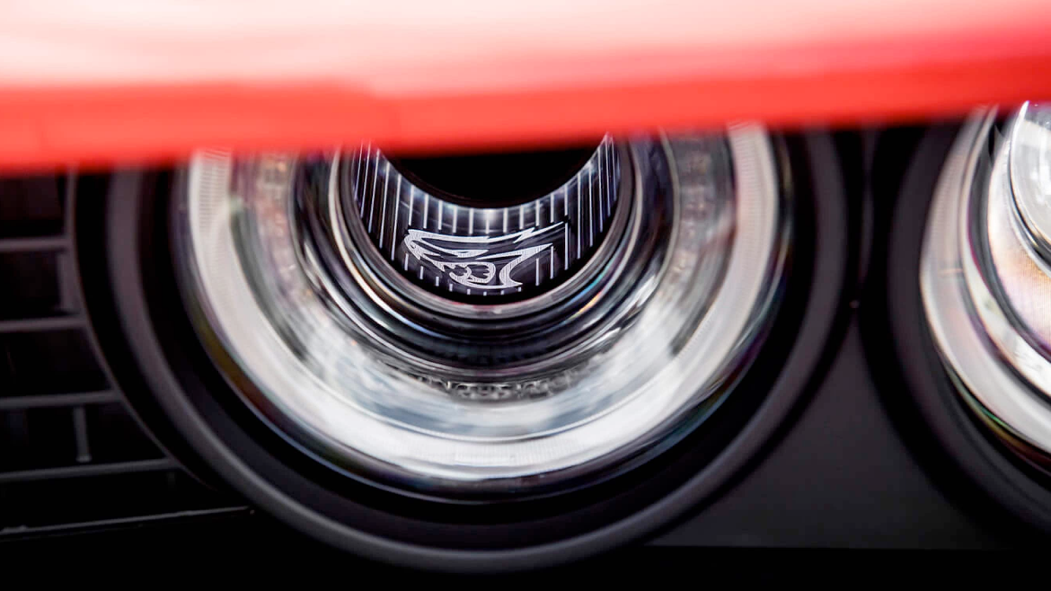 Illuminated Air-Catcher® Headlamps on the 2021 Dodge Challenger.