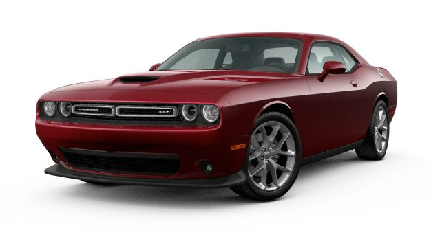 2021 Dodge Challenger GT in red.