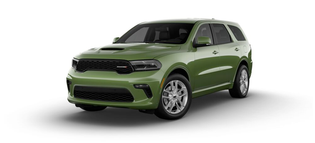 2021 Dodge Durango R/T in green.