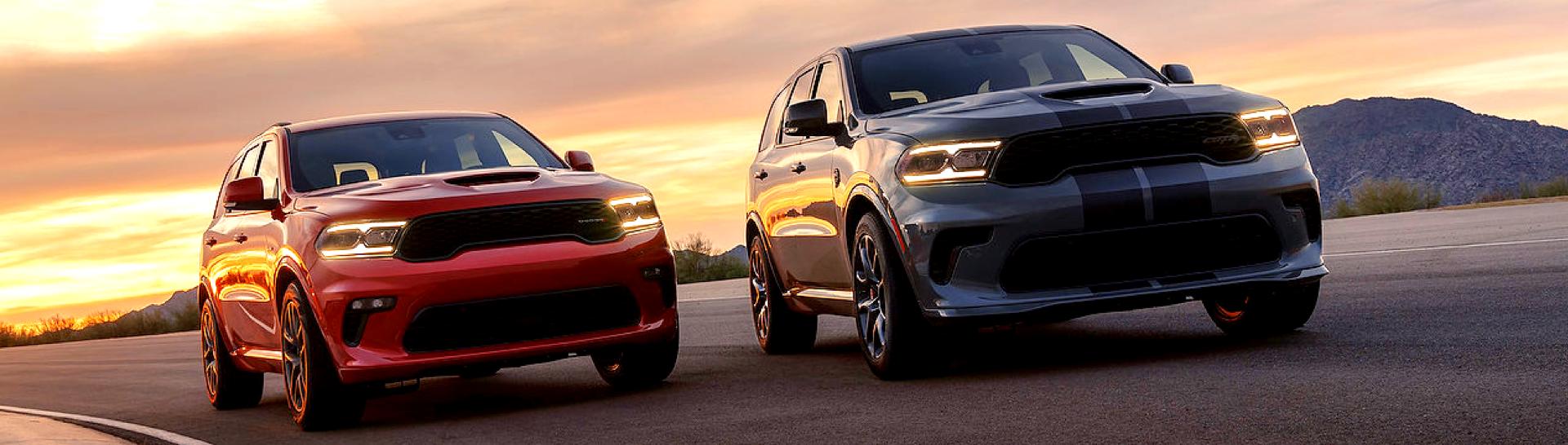 2021 Dodge Durangos next to each other.