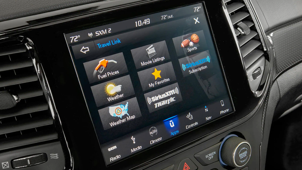 2021 Jeep Grand Cherokee displaying the diffrent SiriusXM app selections