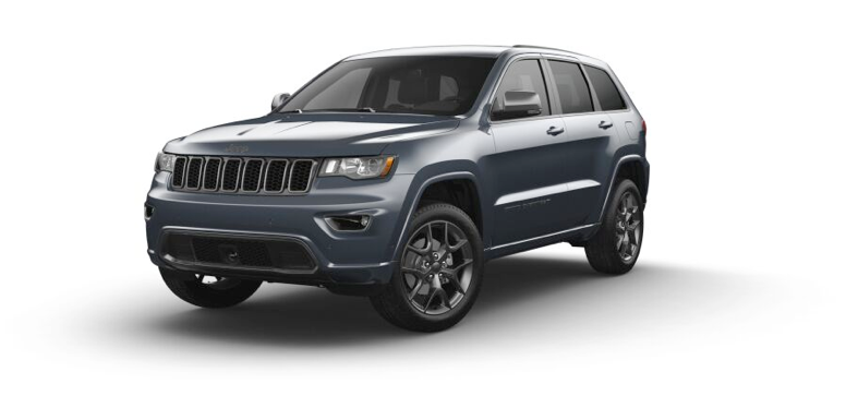 2021 Jeep Grand Cherokee 80th Anniversary Edition in the color Slate Blue Pearl-Coat