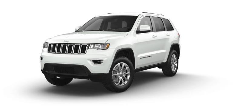 2021 Jeep Grand Cherokee Laredo E in the color Bright White Clear Coat