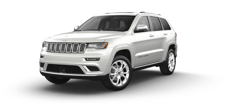 2021 Jeep Grand Cherokee Summit in the color Bright White Clear-Coat