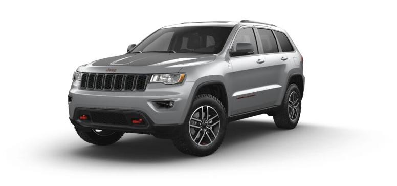 2021 Jeep Grand Cherokee Laredo Trailhawk in the color Billet Silver Metallic Clear Coat