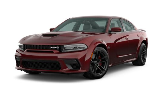 2021 Dodge Charger SRT Hellcat Widebody in crimson.