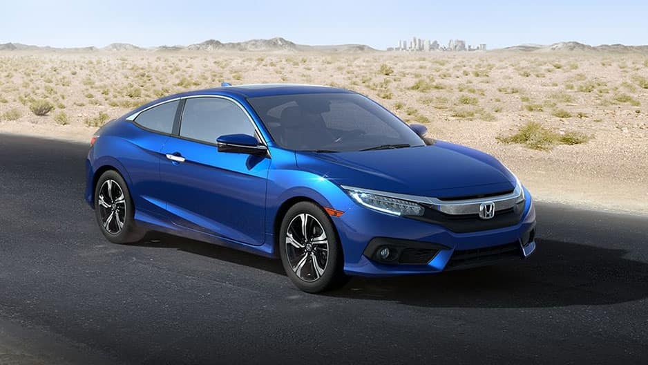 Exterior Features of the New Honda Civic Coupe at Garber in Rochester, NY