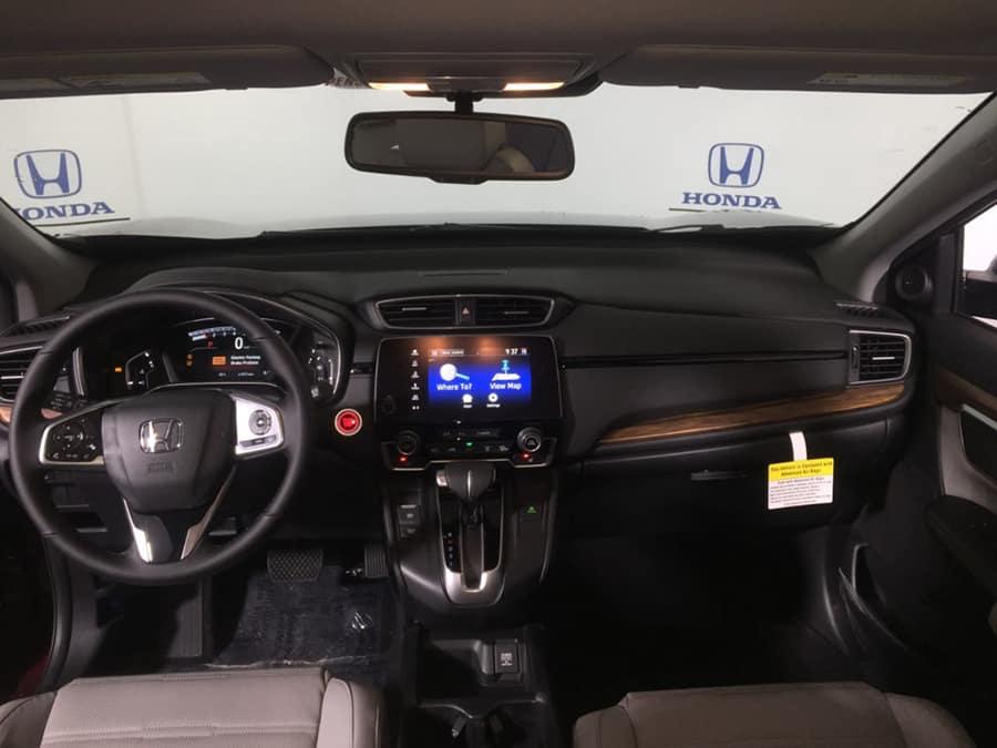 Black titanium Inner Steering wheel cover trim For Honda CRV CR-V 2017 2018 2019