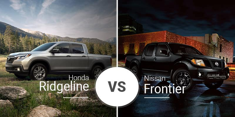 Honda Ridgeline Vs. Nissan Frontier on