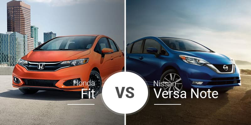 Nissan Vs Honda >> Honda Fit Vs Nissan Versa Note
