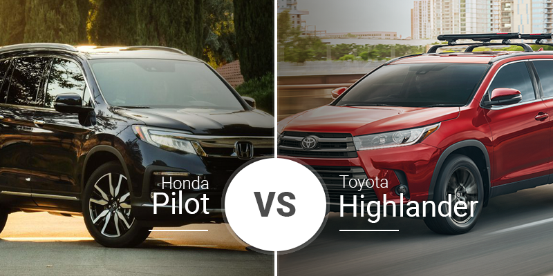 Pilot Vs Highlander >> Honda Pilot Vs Toyota Highlander