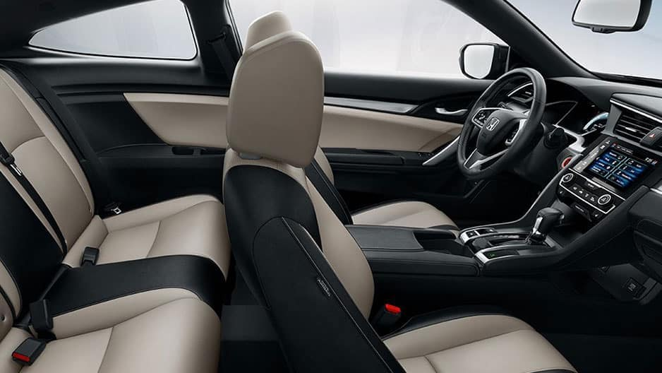 Interior Features of the New Honda Civic Coupe at Garber in Rochester, NY
