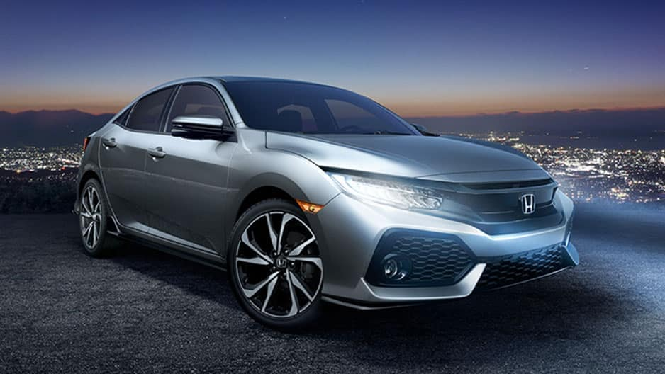 Exterior Features of the New Honda Civic Hatchback at Garber in Rochester, NY