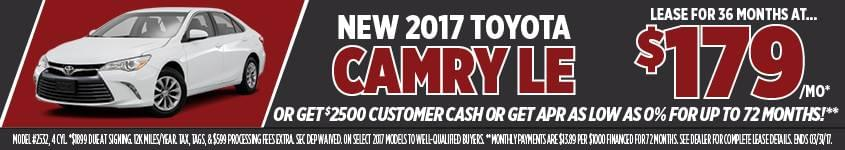 March Camry Sales Event