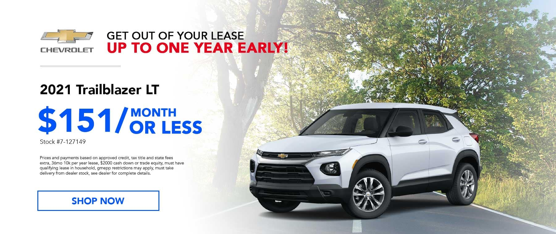 May 2021 Trailblazer Lease Specials