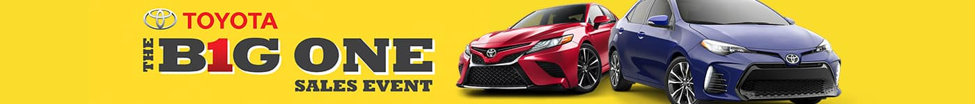 high country toyota big one sales event