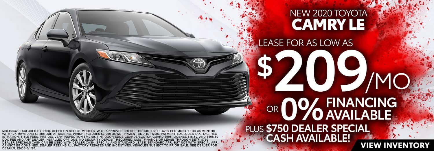 New 2020 Toyota Camry LE at High Country Toyota