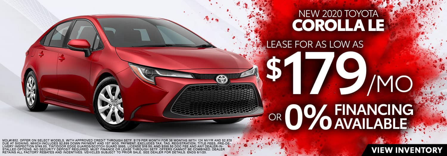 New 2020 Toyota Corolla LE at High Country Toyota