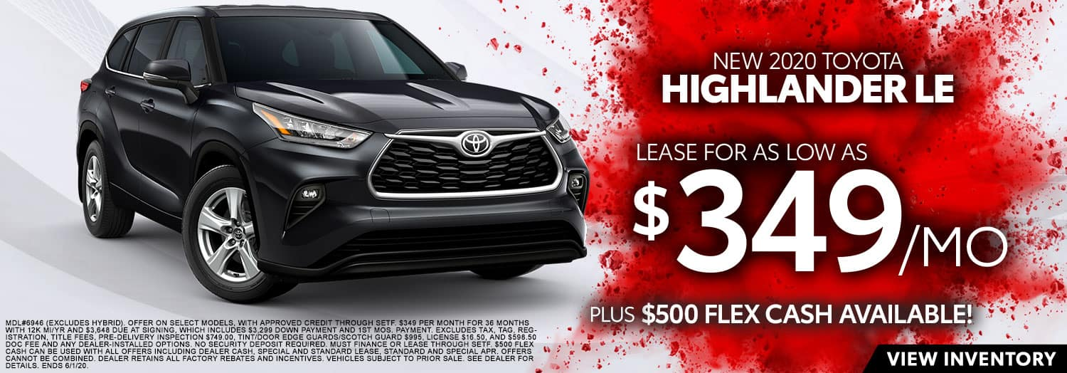 New 2020 Toyota Highlander LE at High Country Toyota