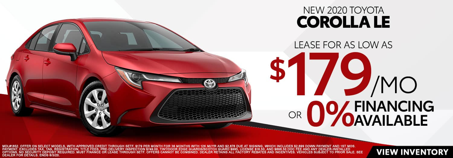 New 2020 Toyota Corolla LE at High Country Toyota!