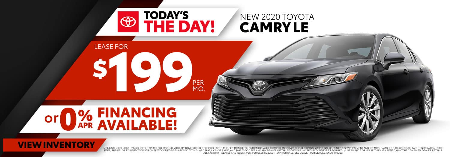 New 2020 Toyota Camry LE at High Country Toyota!