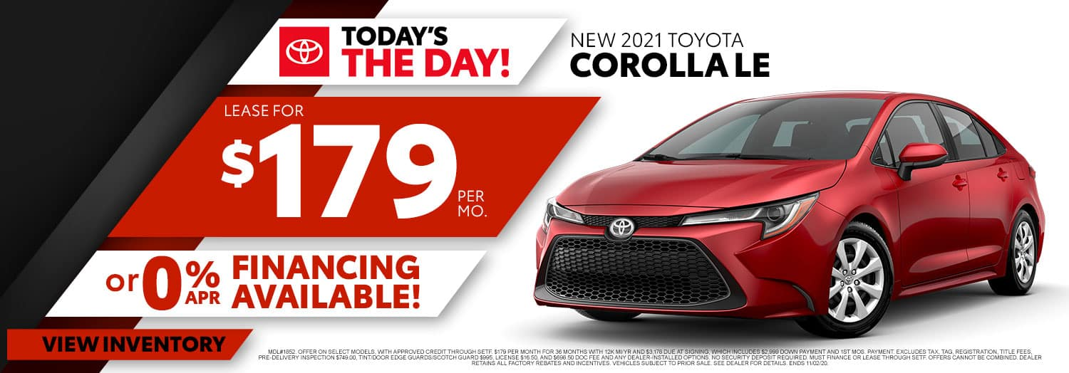 New 2021 Toyota Corolla LE at High Country Toyota