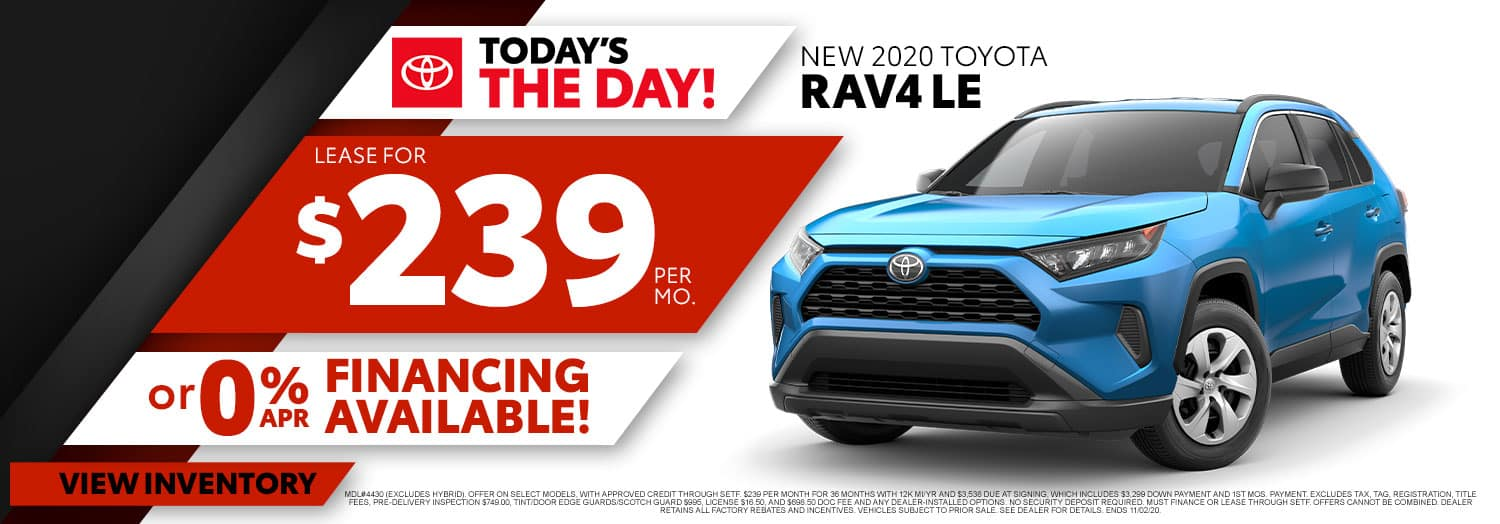 New 2020 Toyota RAV4 LE at High Country Toyota!